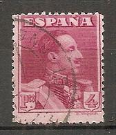 ESP 1922- Yv. N° 285  (o)  4p  Lie De Vin   Aphonse XIII Cote  5  Euro BE   2 Scans - Oblitérés