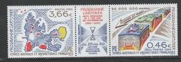 T.A.A.F. Yv 336-37  Jaar 2002, Triptiyque, Postfris Zonder Plakker (MNH - Neufs