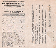 Oorlog 40/45 - Luchtaanval - REYNAERT ELZA ° St Andries 1921 - + St Michiels (Brugge) - Religión & Esoterismo