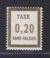 FRANCE FICTIF TAXE N° FT12 ** MNH Timbre Neuf Sans Charnière, TB - Finti