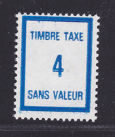 FRANCE FICTIF TAXE N° FT39 ** MNH Timbre Neuf Sans Charnière, TB - Fictifs