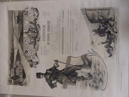 """Belle Lithographie 42/32 Cm 6éme Régiment De Génie """"Certificat De Bonne Conduite"""" Aucui Pierre 1913. Voir Scan. - 1914-18"""