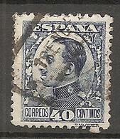 ESP 1930- Yv. N° 410 Type I   (o)  40c Bleu  Aphonse XIII Cote  1 Euro BE - Oblitérés