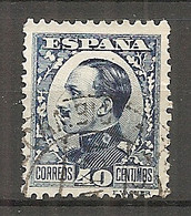ESP 1930- Yv. N° 410a Type II   (o)  40c Bleu  Aphonse XIII Cote  1,5  Euro BE - Oblitérés