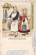 Carte Illustrée Par Guillaume Repiquage Avis De Passage Paul Renard Arquebuse Kola Champagnac Champagne Picart - Advertising