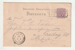 """Deutsches Reich - 1882 - R3 """"AUF DEM FELDBERG"""" Auf Postkarte Nach Freiburg (1/103) - Marcophilie - EMA (Empreintes Machines)"""