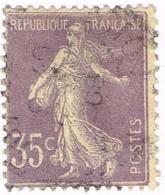 France, N° 136a Obl. Type Semeuse - Used Stamps