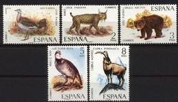 Spain 1971 - Fauna -Ed 2036-40 (**) Mi 1931-1935 - 1971-80 Nuevos & Fijasellos