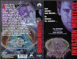 """INVASION MORTELLE"" -jaquette SPECIMEN Originale PARAMOUNT VHS SECAM -hell Swarm - Fantascienza E Fanstasy"