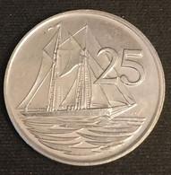 ILES CAIMANS - CAYMAN ISLANDS - 25 CENTS 1982 - Elizabeth II - 2eme Effigie - KM 4 - Cayman Islands
