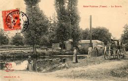 - St VALERIEN (89) - La Scierie (machine à Vapeur, Animée, Pêcheur à La Ligne)  -25525- - Saint Valerien
