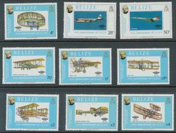 BELIZE 1979 100.Todestag Rowland Hill; 75 Jahre ICAO, Satz Und Beide Blöcke ** - Belize