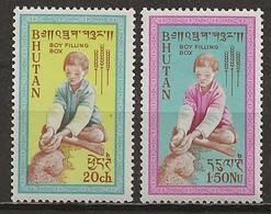 BHOUTAN: **, N° YT 17 Et 18, TB - Bhután