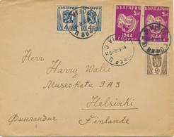 BULGARIEN 1946 5 L (2x) 1.Jahrestag Des Staatsstreichs + Wappen 2 L, 4 L (2x) Bf - Briefe U. Dokumente