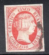 Spain - 1851 - 5r - Yv. 9 - Used - Usados