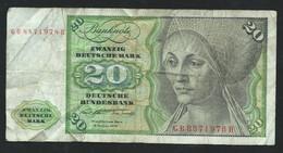Billet Allemagne - 20 Mark 1970  6  GB8871978H  - Laura 6104 - 20 Deutsche Mark