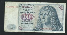 Billet République Fédérale Allemande, 10 Deutsche Mark, 1970  - CA0587241V  - Laura 6105 - 10 Deutsche Mark