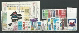 1985 MNH Denmark, Dänemark, Year Complete According To Michel, Postfris - Volledig Jaar
