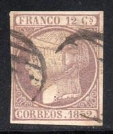 Spain - 1852 - 12c - Yv. 13 - Used - Usados