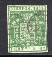 Spain - 1854 - 5r - Yv. 26 - Used - Usados
