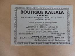 Carte De Visite Boutique Kallala Rue Mahmoud Bourguiba Monastir (Tunisie). - Cartes De Visite