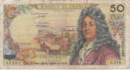 BILLETE DE FRANCIA DE 50 FRANCS DEL 3-5-1973  (BANKNOTE) RACINE - 50 F 1962-1976 ''Racine''