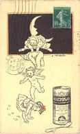 Carte Illustrée Par Willette Les Anges Et Les Petits Pierrot à Saute-Mouton Pour Le Maltosan - Publicité