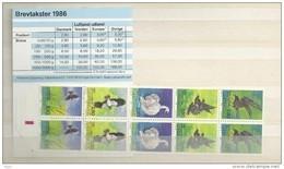 1986 MNH Danmark, Dänemark, Denemarken, Booklet  S41, Postfris - Booklets