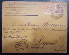 1901.- BARCELONA A LYON (FRANCIA). - Cartas