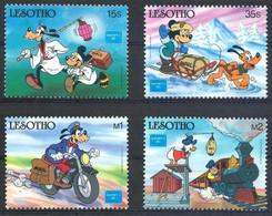 MWD-BK5-271-3 MINT PF/MNH ¤ LESOTHO 1986 4w In Serie ¤ THE WORLD OF WALT DISNEY -- FRIENDS OF WALT DISNEY - CHRISTMAS 19 - Disney