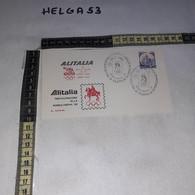 FB4486 REP. ITALIANA FDC ROMA 1982 ALITALIA PARTECIPAZIONE ALLA ROMOLYPHIL '82 TIMBRO TARGHETTA - F.D.C.