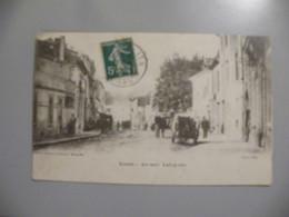 A492. CPA. 34. LUNEL. (Herault). Avenue Lafayette. Beau Plan Animé. écrite & Voyagée 1912 - Lunel