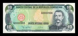 República Dominicana 10 Pesos Oro 1998 Pick 153c Low Serial SC UNC - Dominicana
