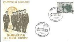 FDC 1981 - Cartas