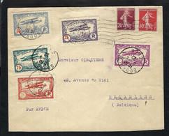 FRANCE Poste Aérienne 1922: LSC De Bourges (Cher) Pour Bruxelles Avec Vignettes - 1927-1959 Lettres & Documents