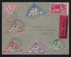 FRANCE Poste Aérienne 1924: LSC De Vincennes Pour Paris Avec Vignettes - 1927-1959 Lettres & Documents