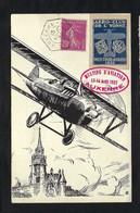 FRANCE Poste Aérienne 1932: LSC Meeting D' Auxerre Avec Vignette - 1927-1959 Lettres & Documents