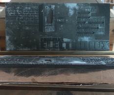 Matrice D'Imprimerie - ELECTROLUX  - 60/70's - Publicidad