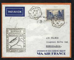 FRANCE Poste Aérienne 1936: LSC De Paris Pour Buenos Aires - 1927-1959 Lettres & Documents
