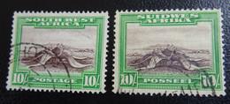 &37F& SOUTH WEST AFRICA  MICHEL 160, 161 USED. FLORA. - Südwestafrika (1923-1990)
