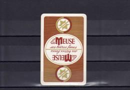 Dos D'une Carte à Jouer De La Brasserie La MEUSE - Unclassified
