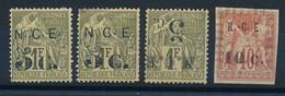 DX-612: Nelle CALEDONIE: Lot Avec N°9**(2)- Pts Défauts)-10a*-11* - Unused Stamps