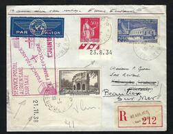 FRANCE Poste Aérienne 1939: LSC Rec. De Beaulieu-sur-Mer Pour Helsinki Et Retour - 1927-1959 Lettres & Documents