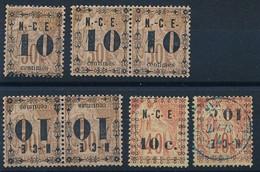 DX-613: Nelle CALEDONIE: Lot Avec N°12*-12*(paire)-12a*(paire)-13a Obl - Unused Stamps