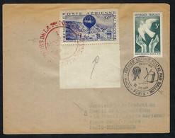 """FRANCE Poste Aérienne 1946: LSC De Paris Intra Muros Avec Vignette """"Centenaire De La 1ère Poste Aérienne"""" - 1927-1959 Lettres & Documents"""