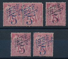 DX-615: Nelle CALEDONIE: Lot Avec N°38**(paire - 1 Dents)-38**-38*(2) - Unused Stamps