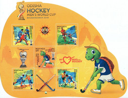 India 2018 Odisha Hockey Mens World Cup Bhubaneshwar Turtle, Sports & Games ,Mint Miniature(**) Inde Indien - Nuevos
