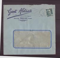 """France, Enveloppe à En-tête """" Gant Aldias """" à Millau Du 7 Décembre 1945 - Briefe U. Dokumente"""