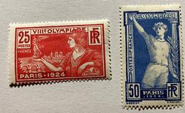 Lot JD12 N° 184 Et 186 Neuf* - Jeux Olympiques De Paris 1924 - Côte = 35,50€ - Unused Stamps