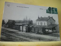 19 6436 CPA 1912 - 19 MEYMAC. LA GARE - ANIMATION. TRAIN EN GARE. - Altri Comuni